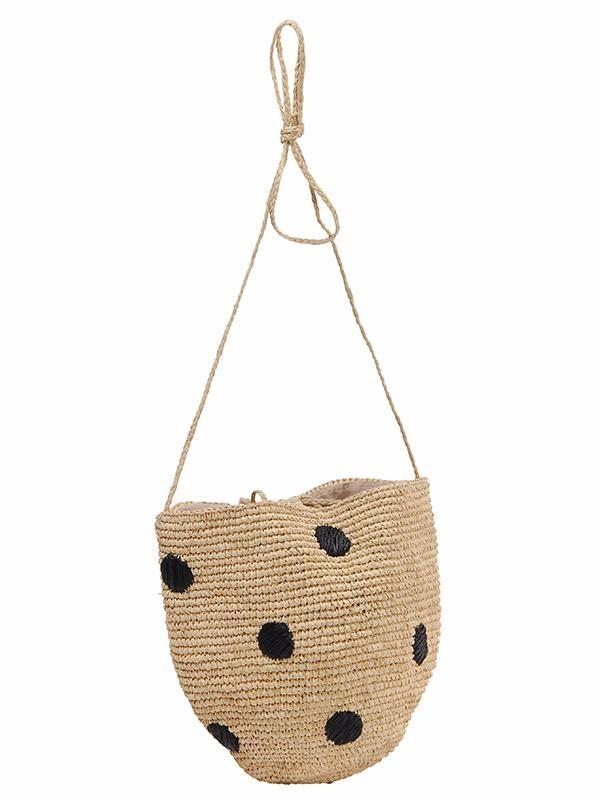 Sac crochet raphia Coccinella - L'Atelier du crochet