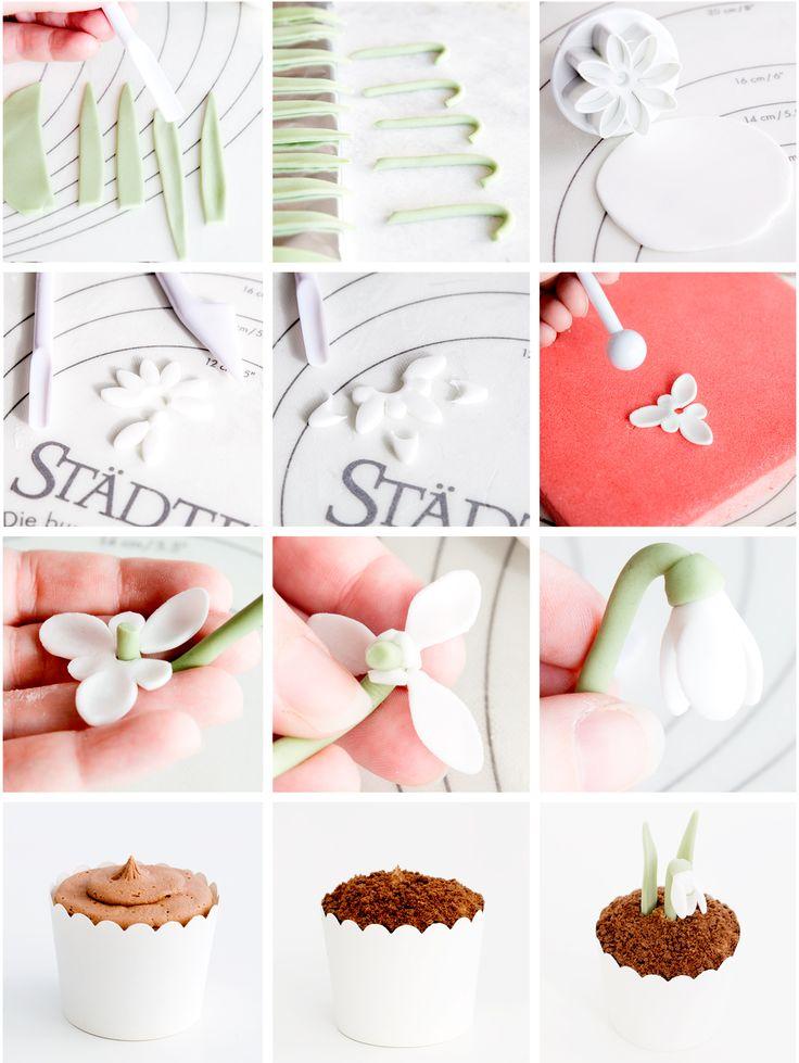 Snowdrop Cupcakes Step-by-Step Tutorial
