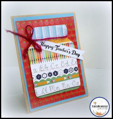 Teachers day card mason jar card