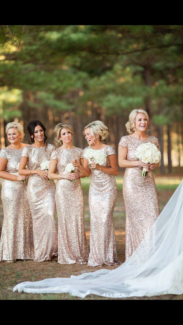This is exactly what I want my bridesmaids to wear at my wedding :) it is modest but oh so sparkley