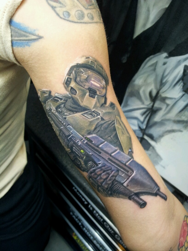 That has to be the one of the best halo tattoos I've ever seen!