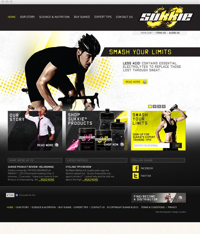 The REVOLUTION is here. New Website launched for Sukkie - Smash your Limits.