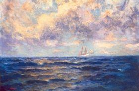 Szinyei Merse Pál - Palermo (Vitorlás a tengeren), 1903
