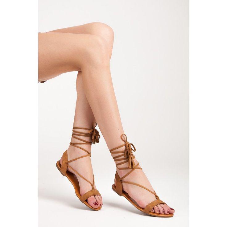 Viazané sandále so strapcami 1041-17C