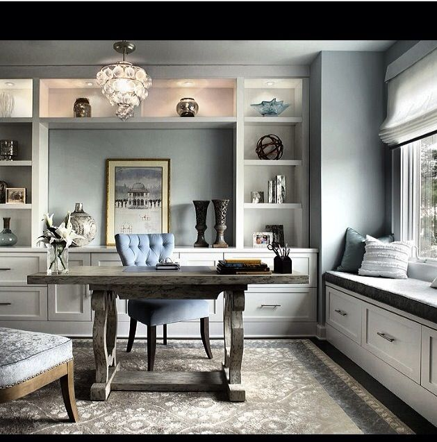 Best 25+ Gray Home Offices Ideas On Pinterest | Grey Study Desks, Blue Office  Decor And Blue Study Desks