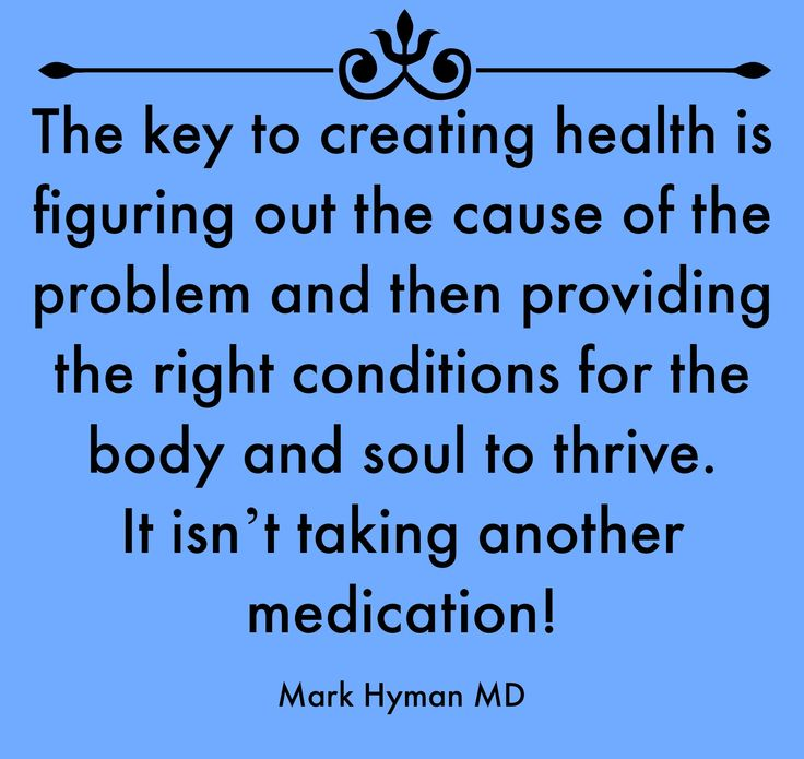The key to creating health...