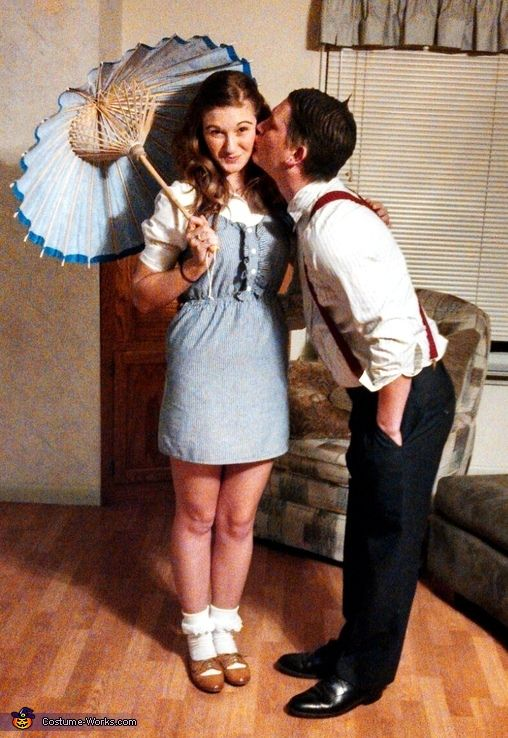 Darla and Alfalfa Couple Costume - Halloween Costume Contest via @costume_works