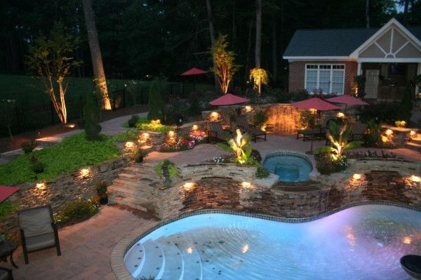 beleuchtung f r den garten clevere tipps zur gartengestaltung schwimmteich und pool. Black Bedroom Furniture Sets. Home Design Ideas