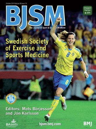 BJSM Volume 48 Issue 19 | October 2014 - Swedish Society of Exercise and #SportsMedicine