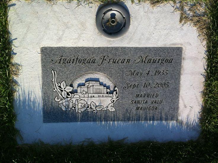 Headstone image of Agaifogaa Mauigoa (Fruean)
