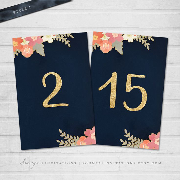 Navy Blue Table Numbers, Navy and Gold Wedding Table Cards, Blush Pink Coral Peach Floral Table Numbers, PRINTABLE Table Numbers Names Cards by soumyasinvitations on Etsy https://www.etsy.com/listing/255700134/navy-blue-table-numbers-navy-and-gold