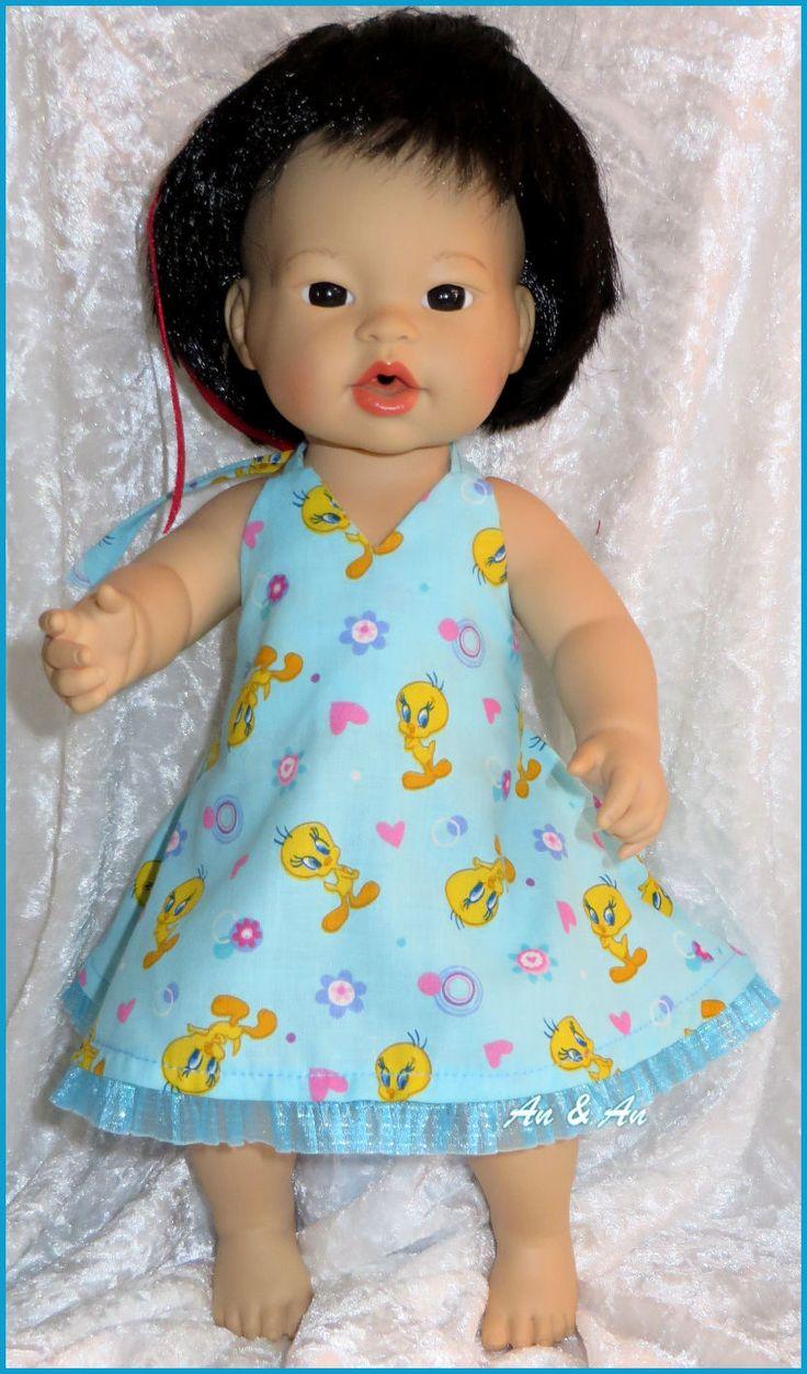 Halterjurkje voor little baby born www.poppenmode.com