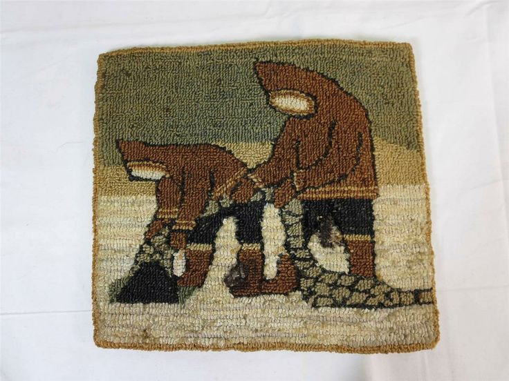 "A Grenfell Labrador Industries Eskimo Rug out of an estate collection.  Good used condition. As found out of the estate. Normal amounts of wear from use.  8 1/2"" H x 9"" W"