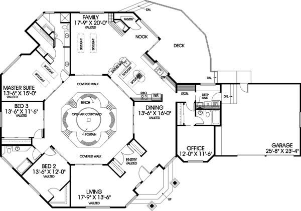 11 best octagon house plans images on pinterest for Modern octagon house plans