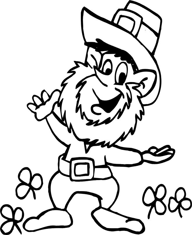 leprechaun coloring pages (free) | Saint Patrick\'s Day Coloring ...