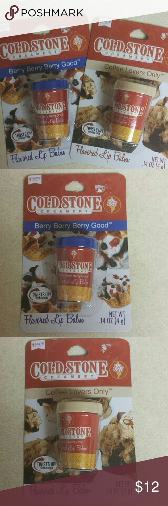 Cold stone Berry Berry & Coffee Lovers lip balm Brand new never opened, Berry Berry Berry Good & Coffee Lovers Only flavored lip balm Makeup Lip Balm & Gloss