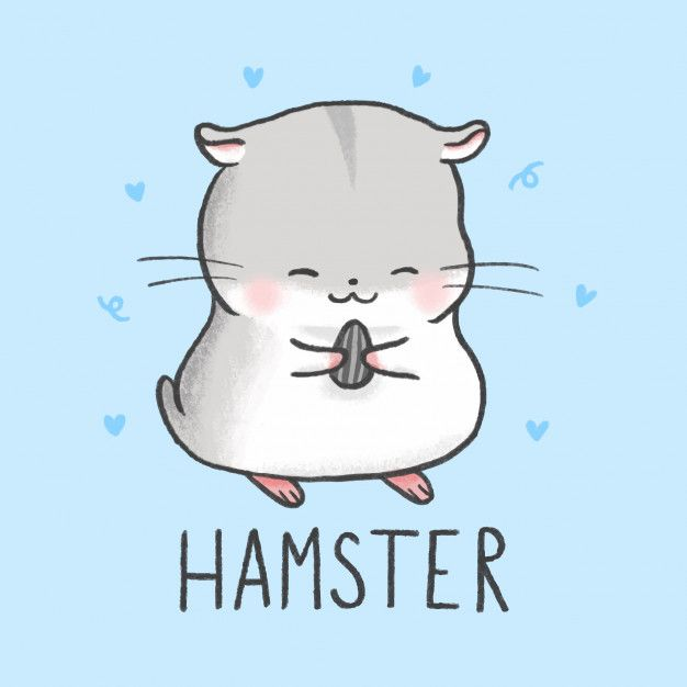 Cute Hamster Cartoon Hand Drawn Style Cute Cartoon Drawings Hamster Cartoon Cute Kawaii Animals