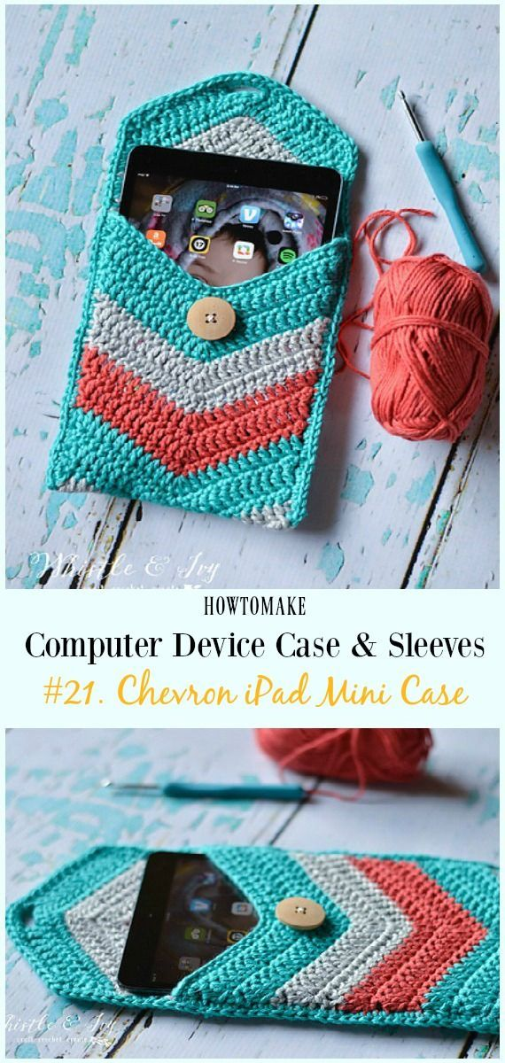 Chevron Ipad Mini Case Free Crochet Pattern Crochet Computer