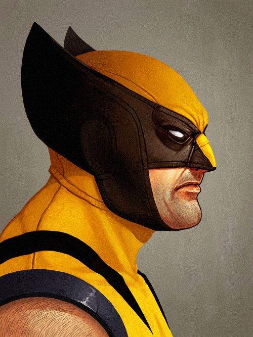 This project by Mike Mitchell features illustrations of Marvel Heroes and Villians, it is currently on display at Mondo Gallery in Austin, TX