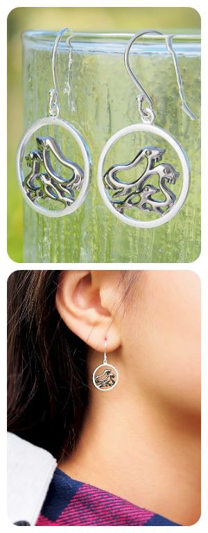 Sterling Silver Earrings | Sea Animals Jewelry | Contemporary Unusual Desin | Buy Jewelry Online