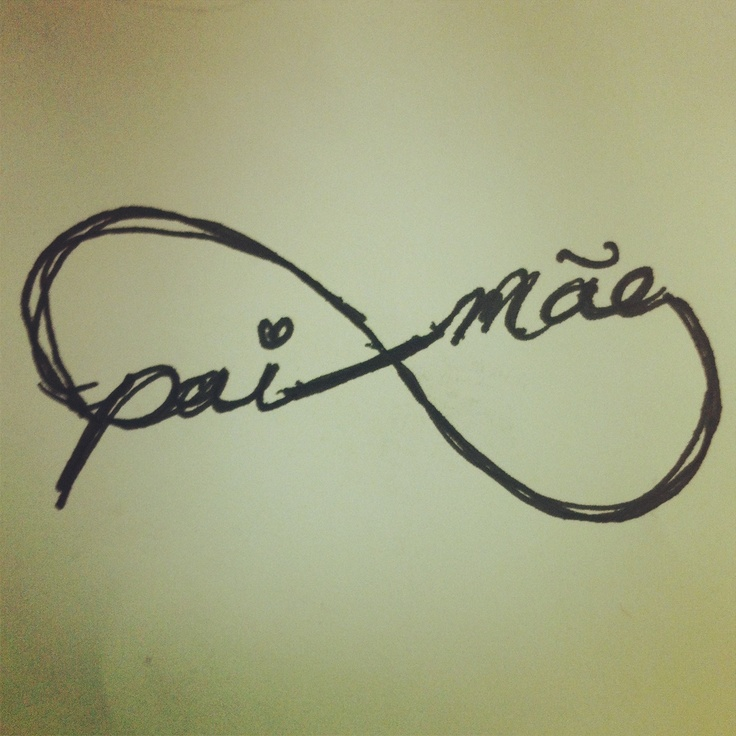 Mother  Father written in Portuguese my next tattoo back of neck