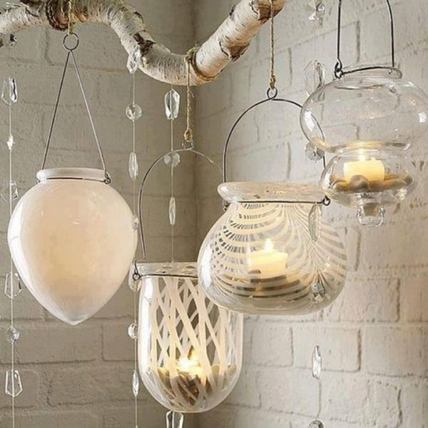 valentinstag kerzen-dekorieren Wohnung-Windlichter-glas