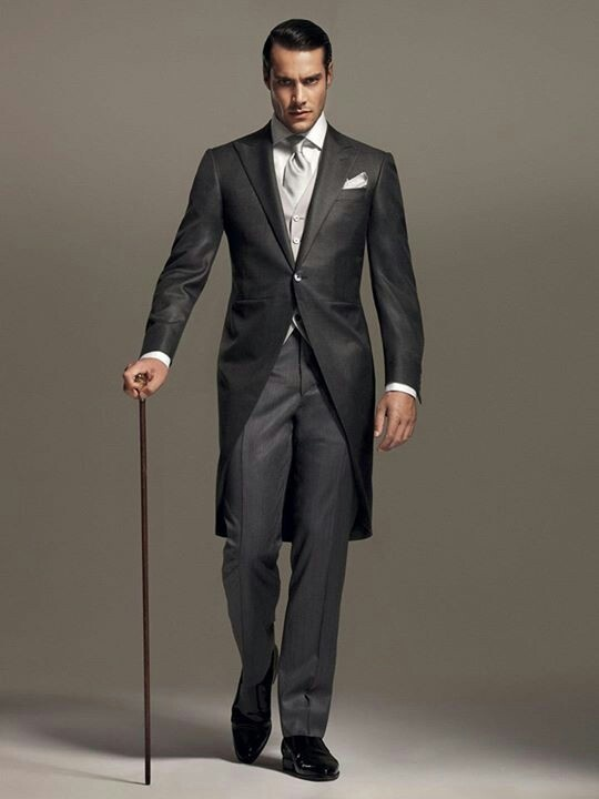 Gentleman in a Morning Suit - formal attire for occasions before 6PM