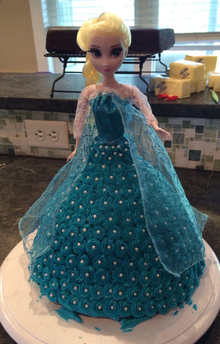 Elsa from the movie Frozen birthday cake