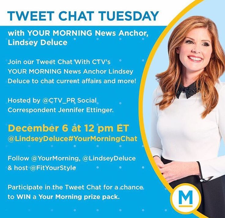 Tweet Chat Tuesday with YOUR MORNING News Anchor, Lindsey Deluce #YourMorningChat