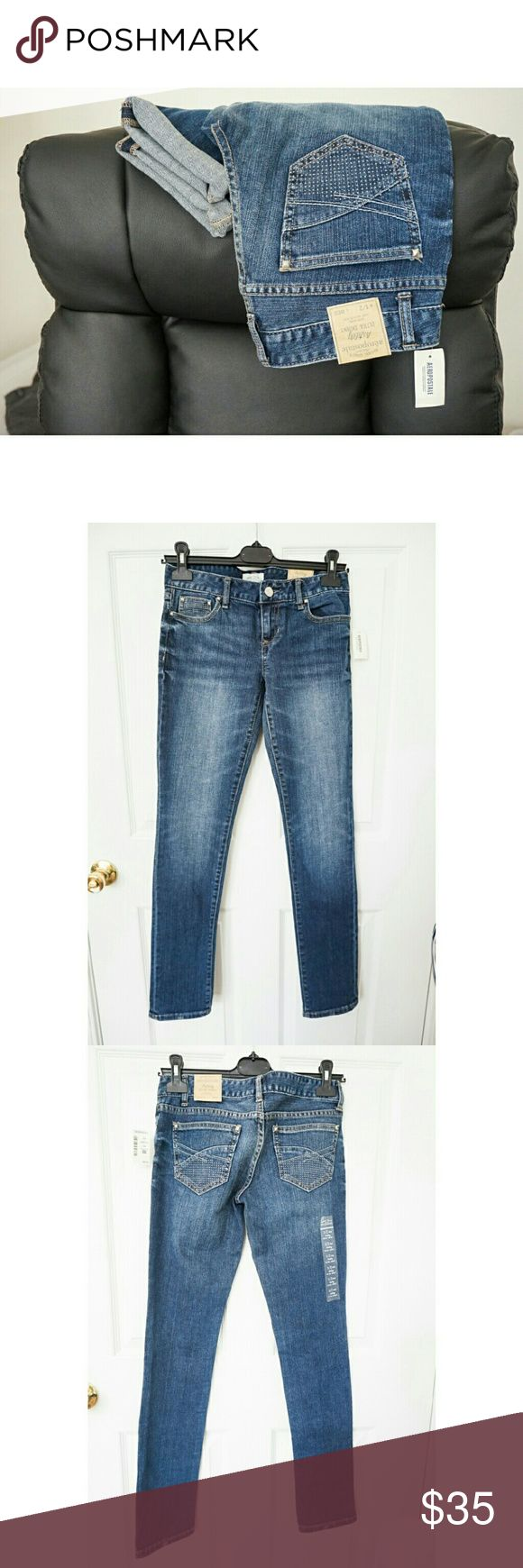 "🎉NEW🎉Aeropostale Skinny Jeans New with tags. Sz 1/2 Reg. Flat meas.: W14""; Inseam 31"". 98% cotton, 2% spandex. Same day shipping. 20% bundle discount, 3 items. Aeropostale Jeans Skinny"