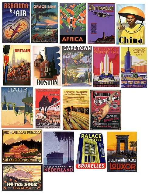 vintage travel poster stoomboot reizen