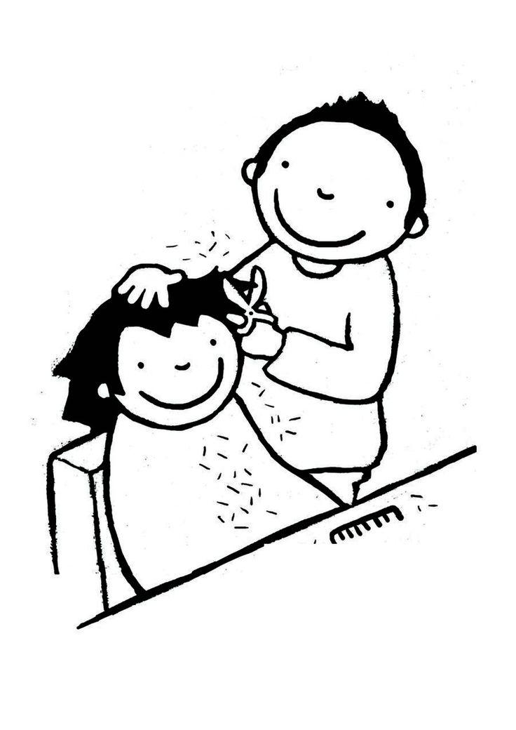 Kleurplaat: Anna bij de kapper
