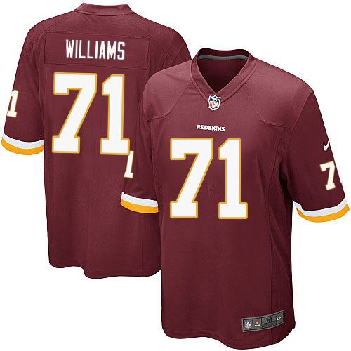 Nike Game Trent Williams Burgundy Red Youth Jersey - Washington Redskins  NFL Home