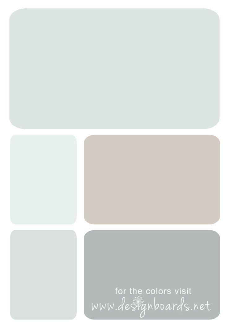 Pittsburg Paint colors: Newport Mist, Swan Sea, Whiskers, Dusty Miller, Steel City