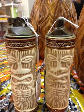 Tiki lighters 12 each lighters pinterest decor for Tiki decorations home