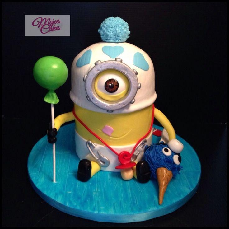 Baby Minion 3d Cake