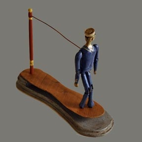 Dancing Sailor -- In the USA, a Jig Doll would be called a: Dancing Doll/Man - Paddle Puppet - Stick Puppet - Limberjack or Limberjim or Limberjill or Limbertoy - etc.