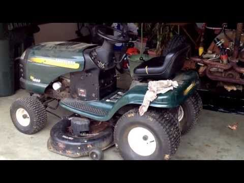 How To Replace Craftsman Lt2000 Mower Deck Belt Youtube