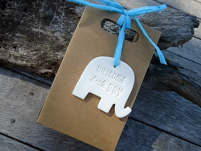 Clay Elephant with Handle Paper Bag by MYMIMISTAR on Etsy