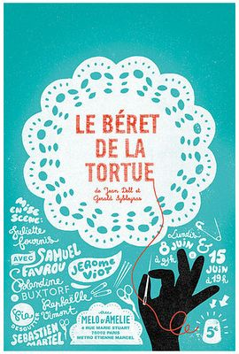 Le Béret de la Tortue – book cover – Hand-lettered type – #typography #handmade #bookcover