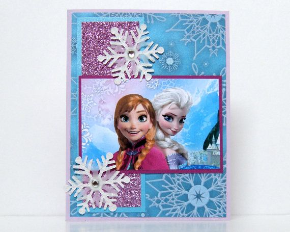 Frozen Cards  Handmade Frozen Cards  Disney Frozen by k8cards, $4.50