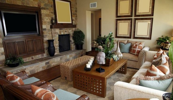 painted brick wall living room - Google Search