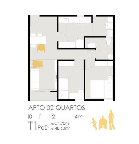 1º Lugar no concurso para edifícios de usos mistos em Sol Nascente – trecho 2,Unidade 2