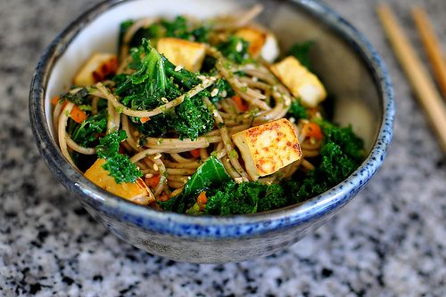 Soba Noodles with Kale, Tofu, and Furikake: Mail, Foodies, Tofu Kale Noodles, Eating, Soba Noodles, Cooking, App Stores, Noodles Salad, Photo