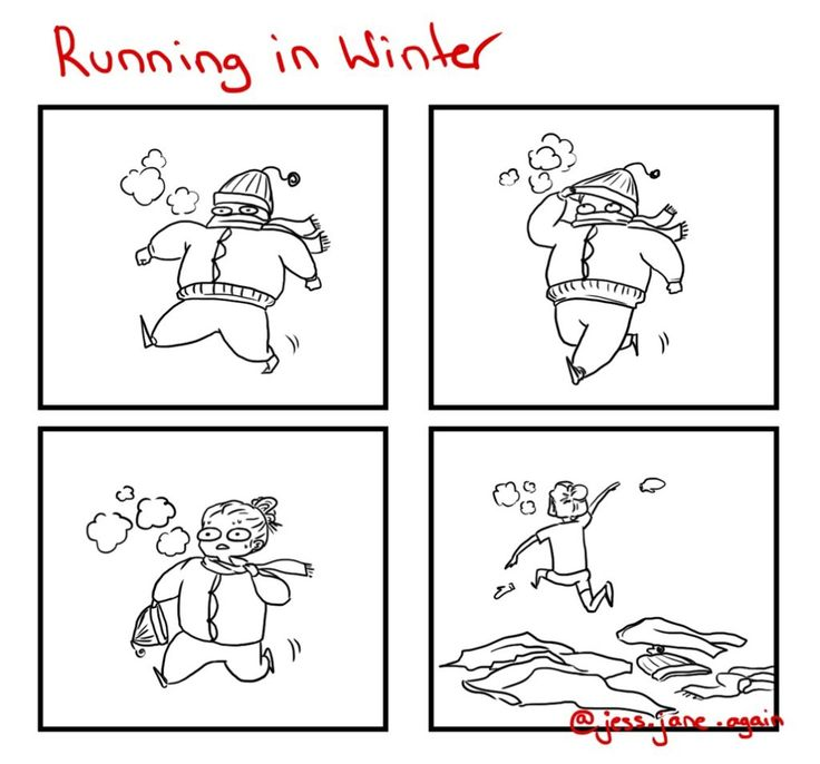 How do runners in snowy winter climates handle it? You either rug up all snuggly and sweat it out, or start bare and heat up. [View comic]