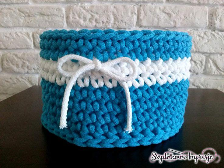 Szydełkowe Impresje  #crochet #handmade #diy #rękodzieło #minty #szydełkowanie #kosz #pink #bawełnianysznurek #cottoncord #knniting #druty #szydełko #mięta #róż #rug #carpet #4home #mylovelyhome #withpassion #4babies #scandi #scandinavianstyle #decor #decorating #roznosci #white #carnation #flowers #blue #impression #biala