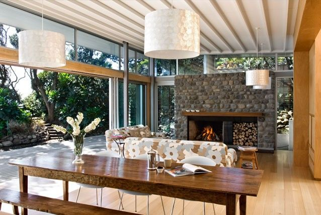 Rosetta Road Beach House | Herriot + Melhuish: Architecture: I am not sure about the dominant fire place and am also not sure of the sort of heating I want.