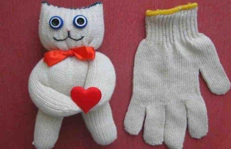 Как за 5 минут сделать из перчатки КОТА!!!