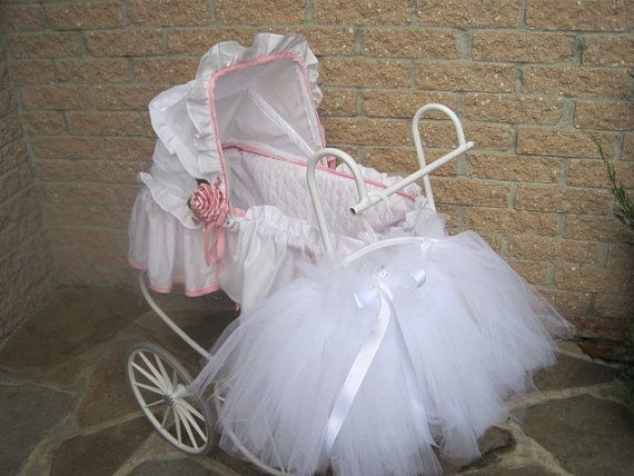 Gorgeous Tutu WHITE SNOWBALL Length 10 inches Waist by ElsaSieron, $30.00