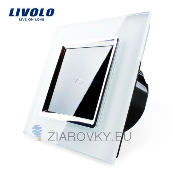 Moderný dotykový vypínač č.1 v bielom prevedení (2)